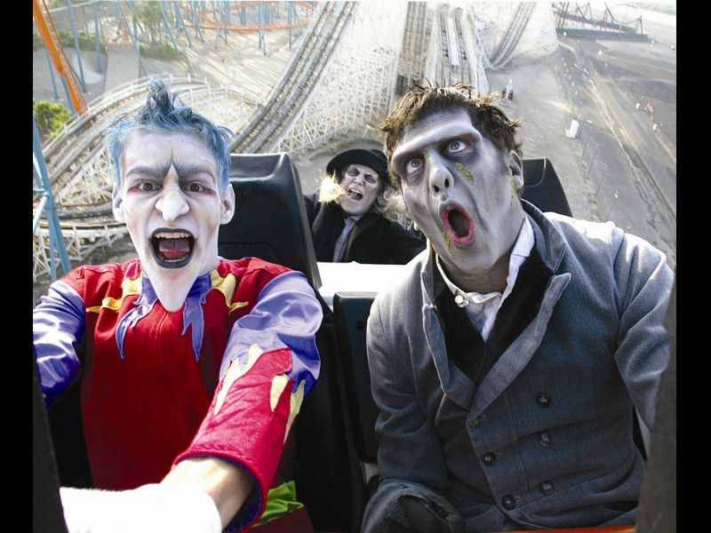 Photo Gallery Six Flags Great America Fright Fest 2012 Six Flags Great Adventure Scary Farm Amusement Park