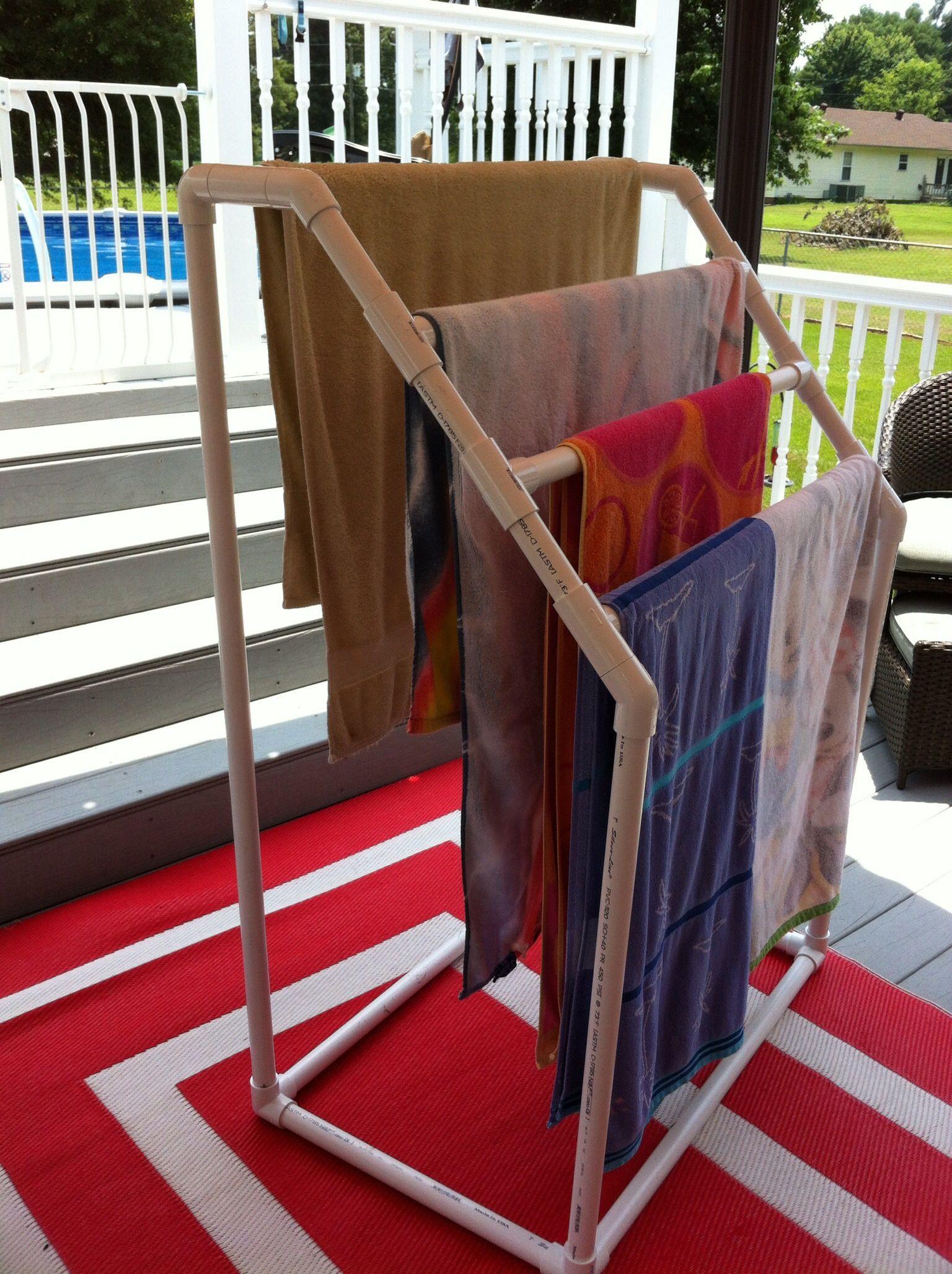 Diy Outdoor Pvc Towel Rack