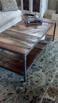 Reclaimed Coffee Table... The Farnham. $360.00, Via Etsy. DBaileyBuilt,  Local Raleigh Industrial (steel U0026 Wood) Furniture Makers.