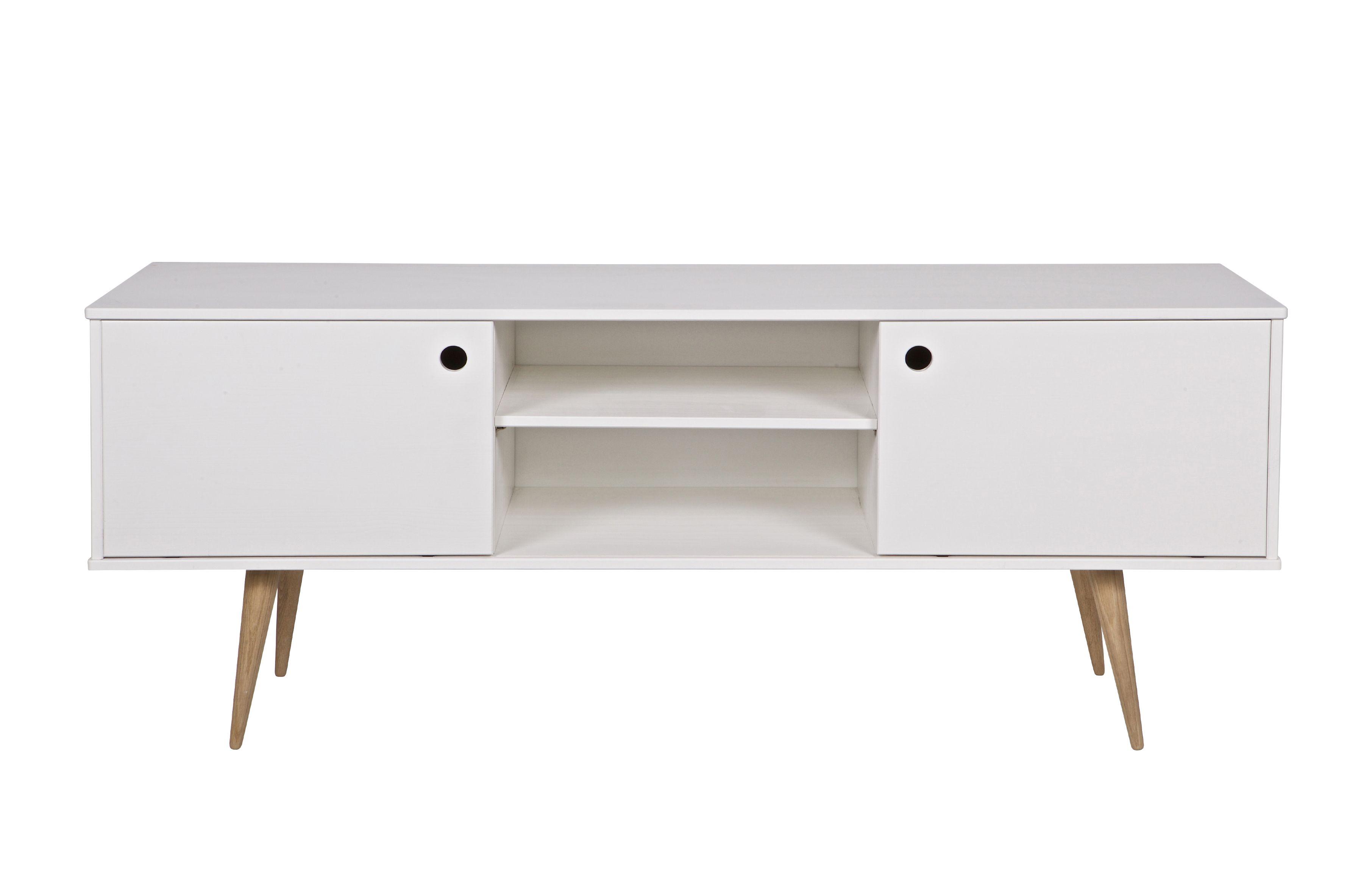 retro tv m bel weib tv medienm bel wohnzimmer de eekhoorn m bel accessoires. Black Bedroom Furniture Sets. Home Design Ideas