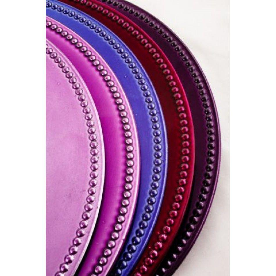 Lavender Charger Plates BULK (24 Plates) [402089 F119-069 Lavender ...