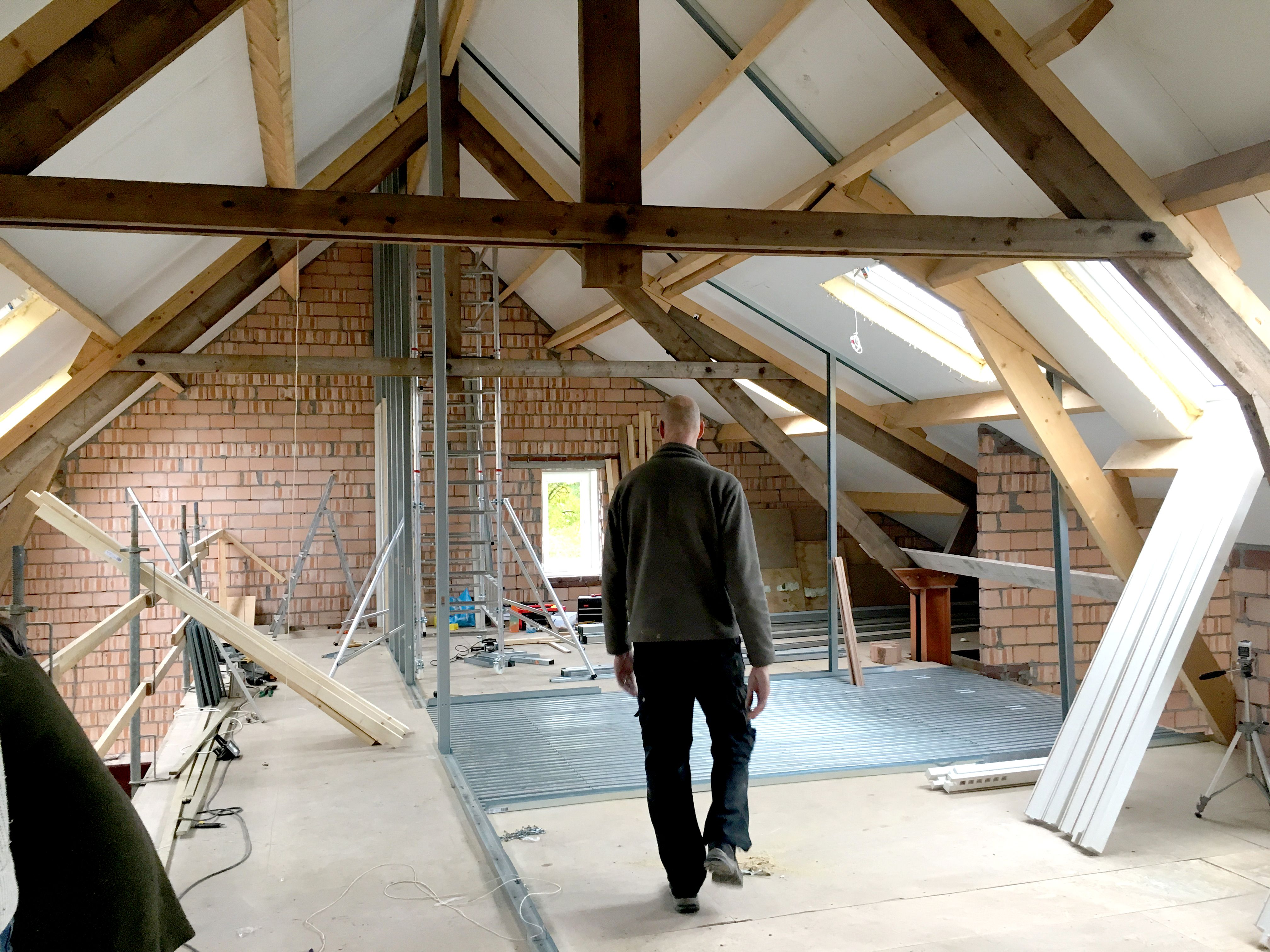 Uitvoering, Op de verdieping worden 3 slaapkamers en een badkamer ...