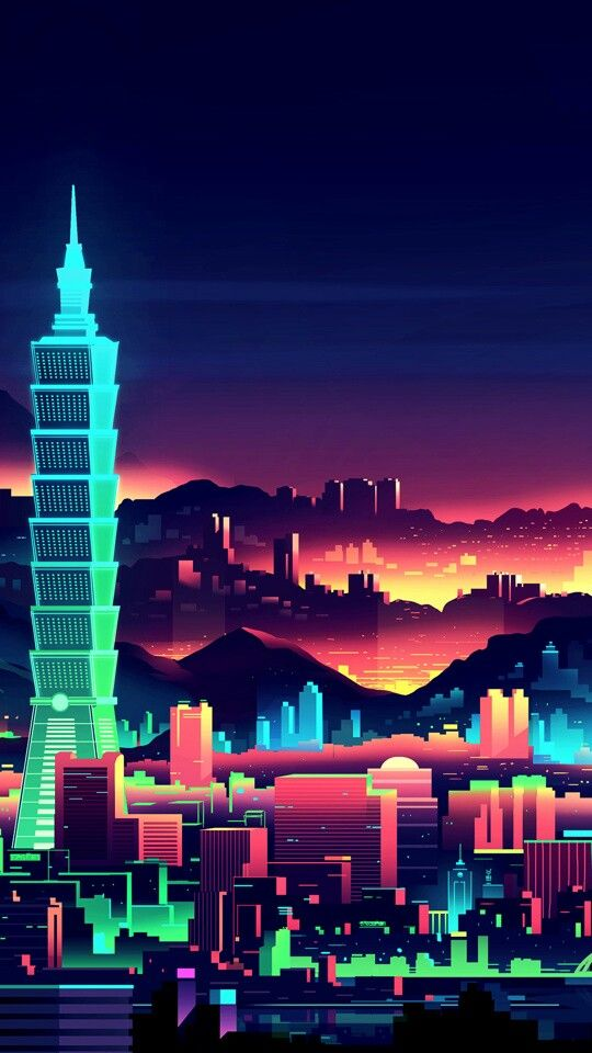 City Illustration Cyberpunk City Vector Illustration Blade Runner Inspired Neon Noir Environment Landscape City Illustration City Wallpaper Fantasy Landscape