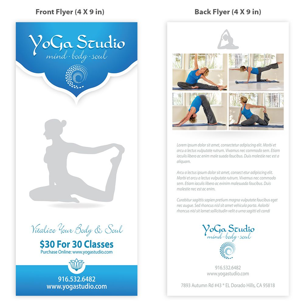 Yoga Flyer Template Design  Yoga Teacher    Flyer