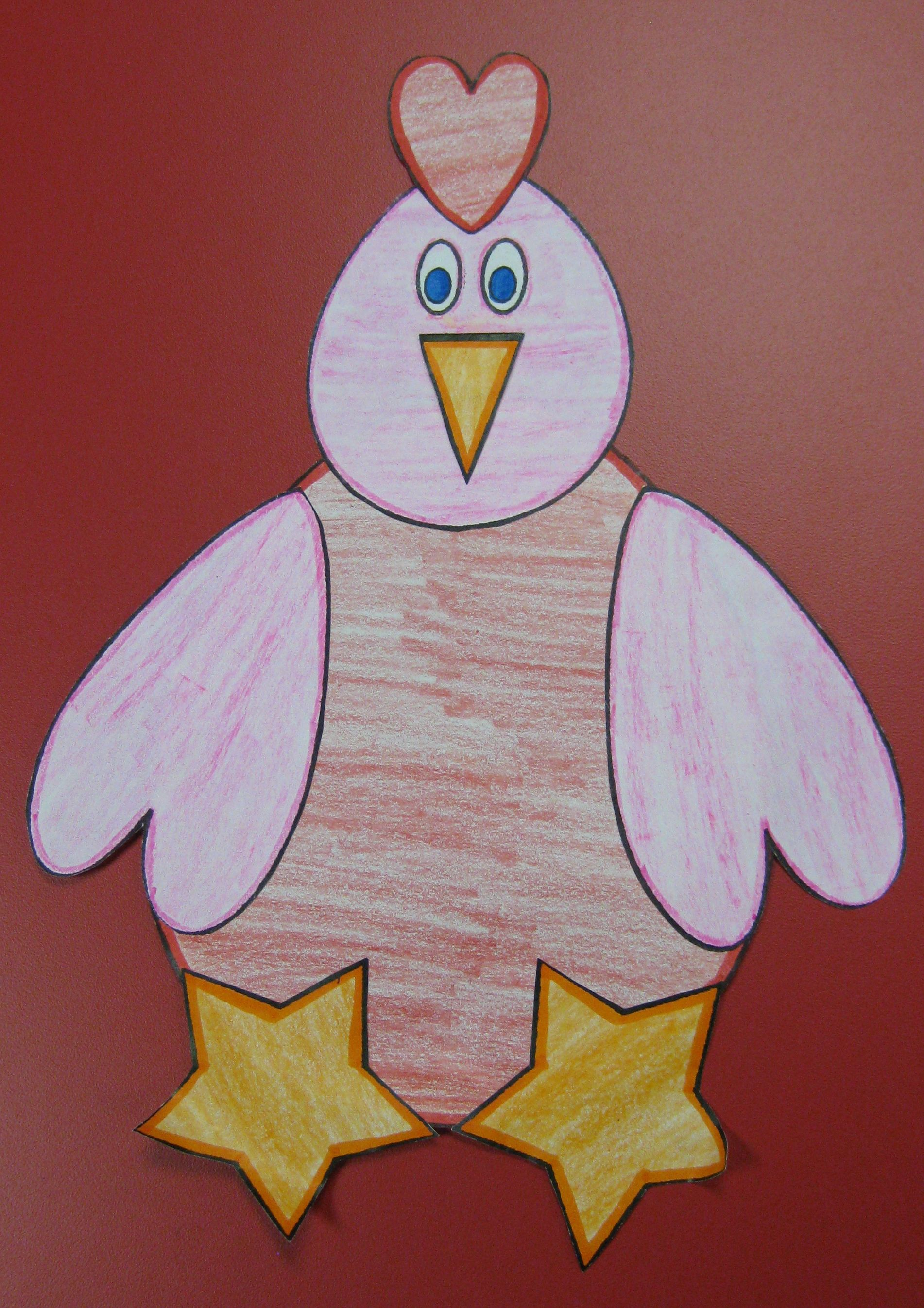 The Little Red Hen Shape Craft