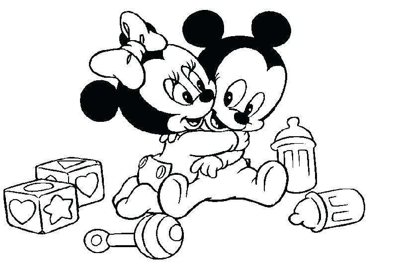 Coloriage Mickey Minnie
