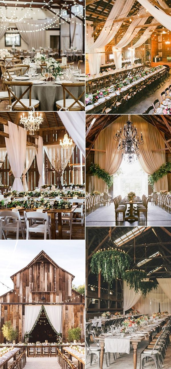 30 Chic Rustic Barn Wedding Reception Ideas - EmmaLovesWeddings #barnweddings