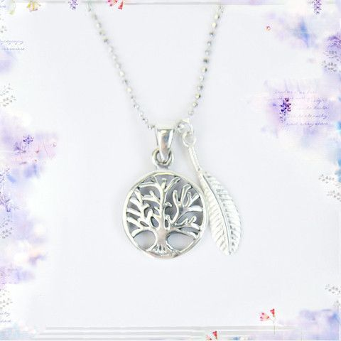 Tree Of Life Silver Intention Necklace By Tiny Devotions Connecting
