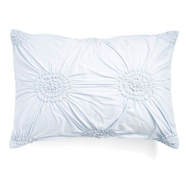 Nordstrom at Home 'Chloe' Sham (150 BRL) ❤ liked on Polyvore featuring home, bed & bath, bedding, bed accessories, blue xenon, blue pillow shams, king size pillow shams, blue king size bedding, king size bedding and king size shams