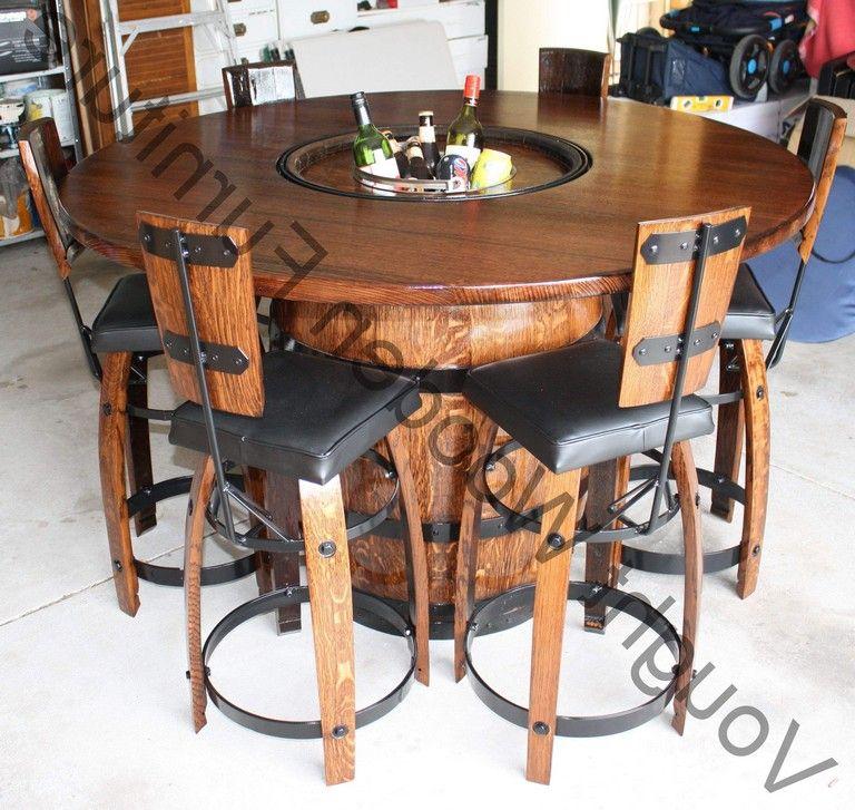 Barrel Furniture Wine Table, Bourbon Barrel Furniture