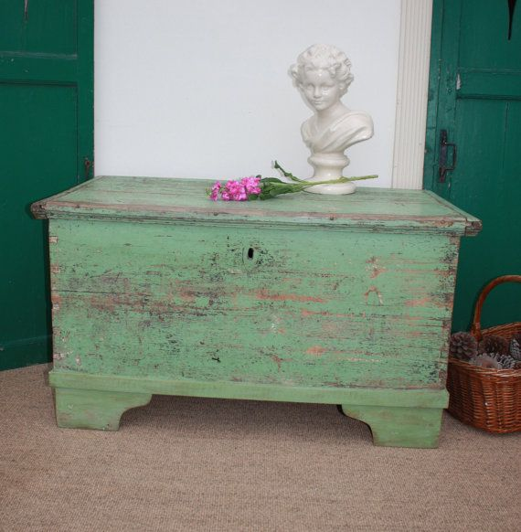 Hungarian Solid Wood Dowry Chest by Restored2bloved on Etsy