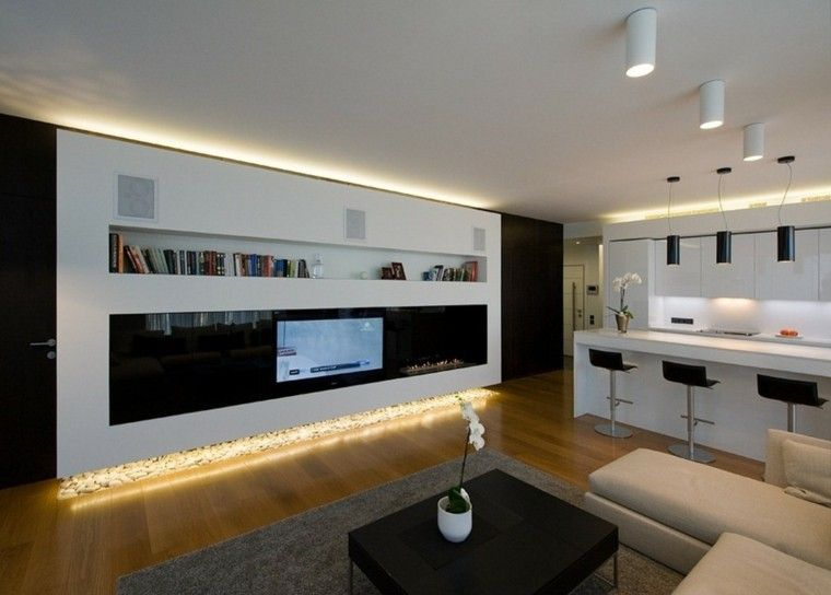 Luces led para mueble de salon obra casa pinterest - Iluminacion para casa ...