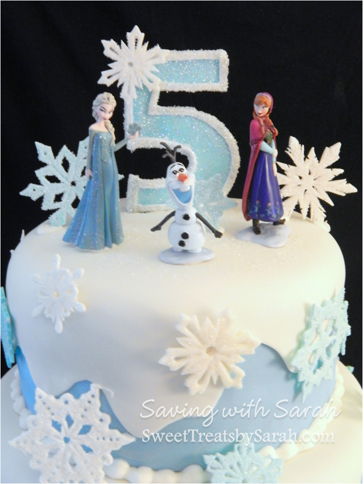 Frozen Cake with Snowflakes Frozen cake topper Frozen birthday