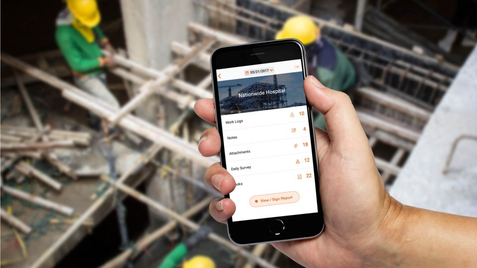 Raken app project view. raken construction app