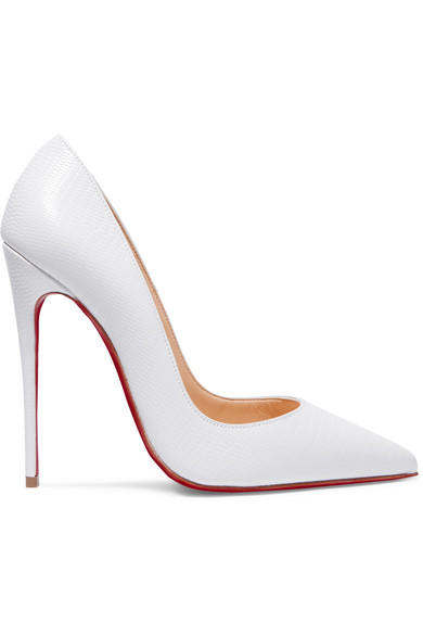 White So Kate 120 lizard-effect leather