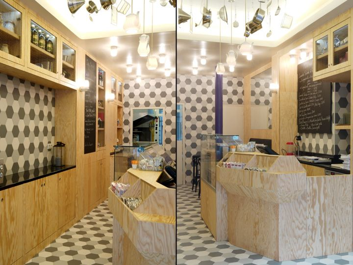 Chez Margot by Studio Janreji, Paris   France fast food