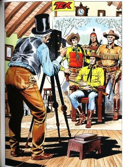 The longest running Italian comic book - on sale since 1948 - Tex Willer is a vigilante in the American West, he patrols the prairie with his group of friends - the Pards.