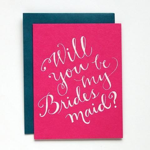 Bridesmaid?