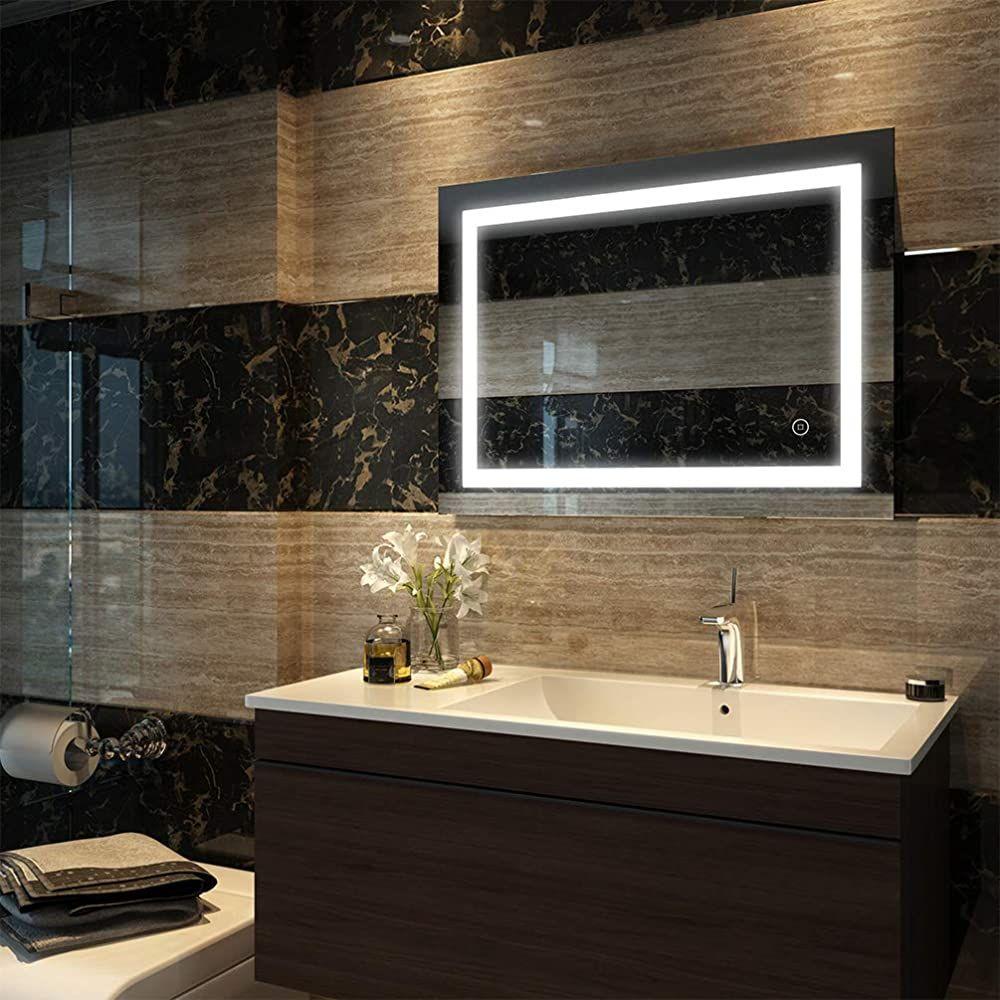 Duschdeluxe Badspiegel Lichtspiegel 80 X 60 Cm Led Spiegel