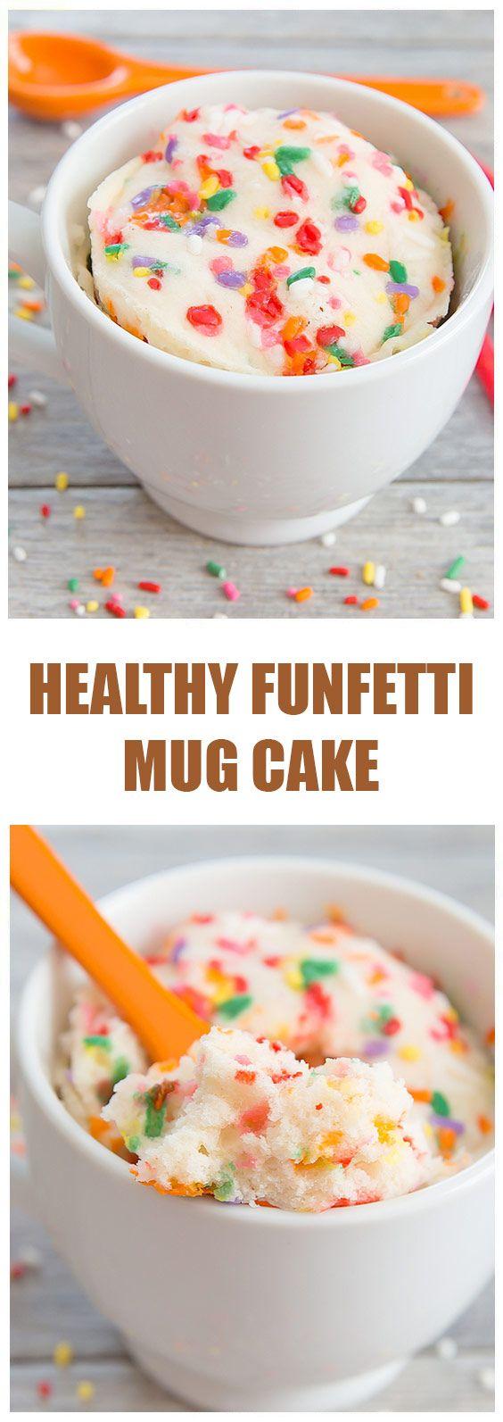 Healthy Funfetti Mug Cake - Cook pad USA | Healthy ...