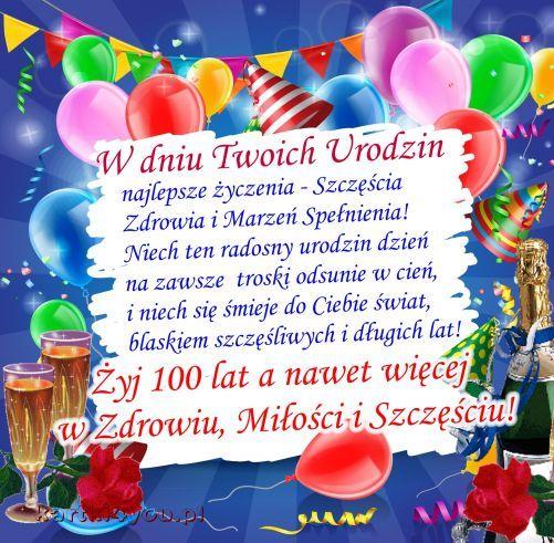 W Dniu Twoich Urodzin Najlepsze Zyczenia Urodziny Imieniny