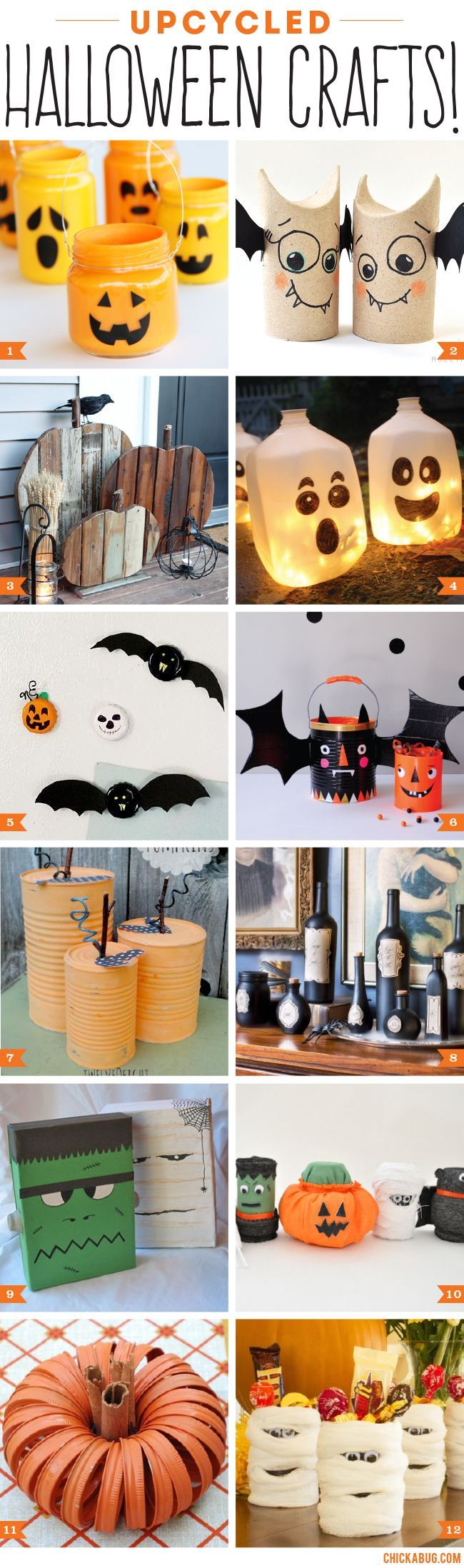 upcycled halloween crafts halloween halloween bricolages halloween et d coration halloween. Black Bedroom Furniture Sets. Home Design Ideas