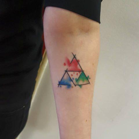 Watercolor Triforce Google Search Tattoos Tatouage Zelda
