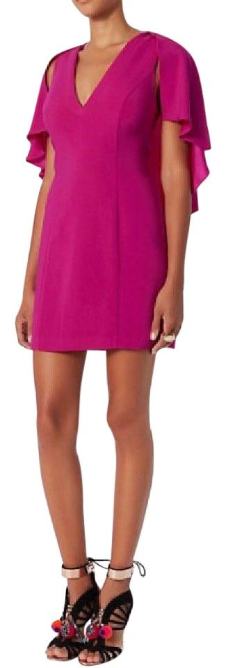 INTERMIX Muller Cape Dress. Free shipping and guaranteed authenticity on INTERMIX Muller Cape DressExclusive for Intermix. NWT. V-neck dress with cap...