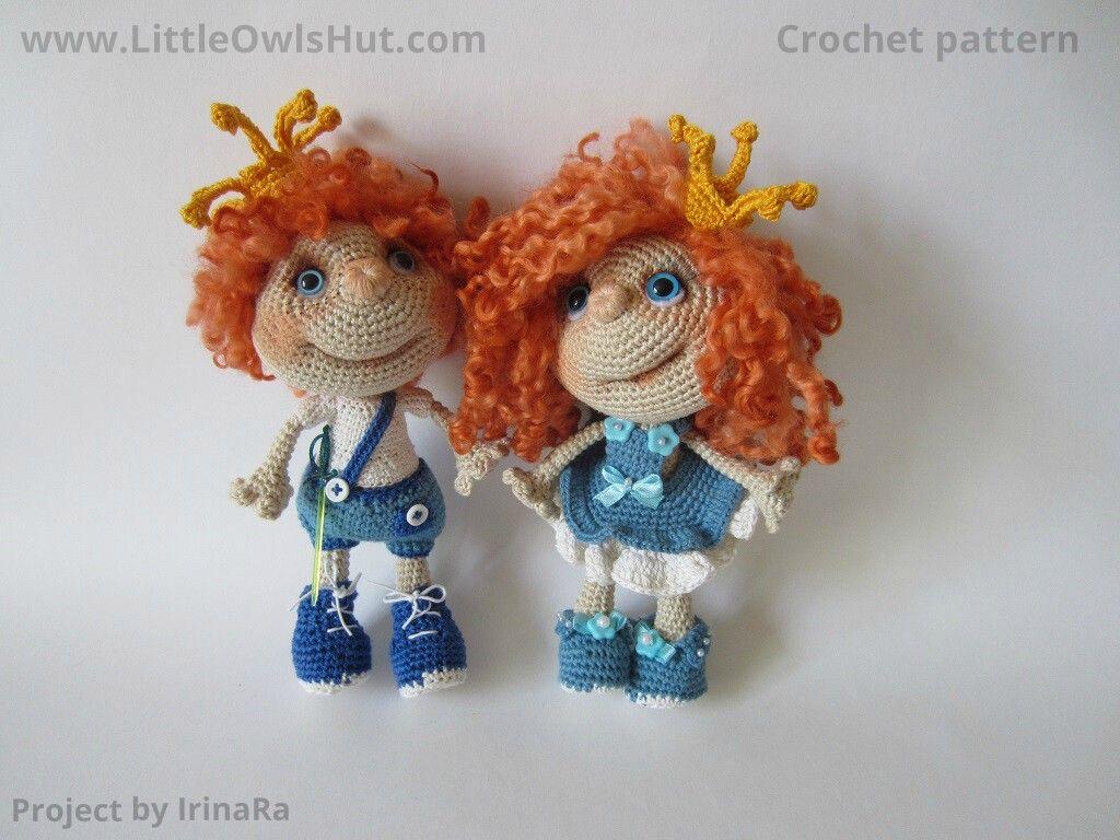 041 Crochet Pattern Princess Doll. Amigurumi Toy - PDF file by Pertseva