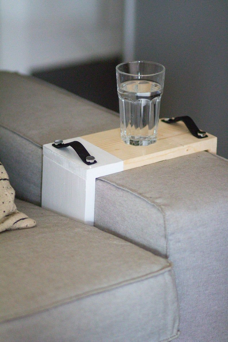 Regular Two Tone Sofa Tray Sofa Arm Tray Sofa Table Sofa Etsy Leather Tray Sofa Arm Table Couch Tray