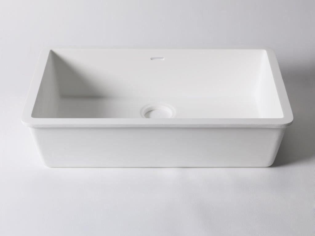 Krion solid surface onderbouw wasbak cm bathroom
