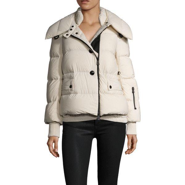 56eb237ac Moncler Women's Rumier Puffer Coat With Fur Trim - Cream/Tan, Size 0 ...
