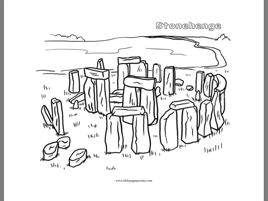 75 Stonehenge Coloring Page
