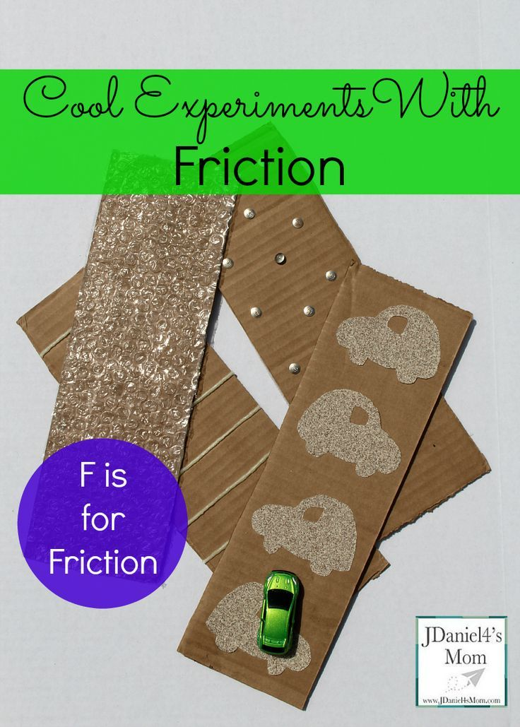 cool experiment with friction- f is for friction | Preschool ...
