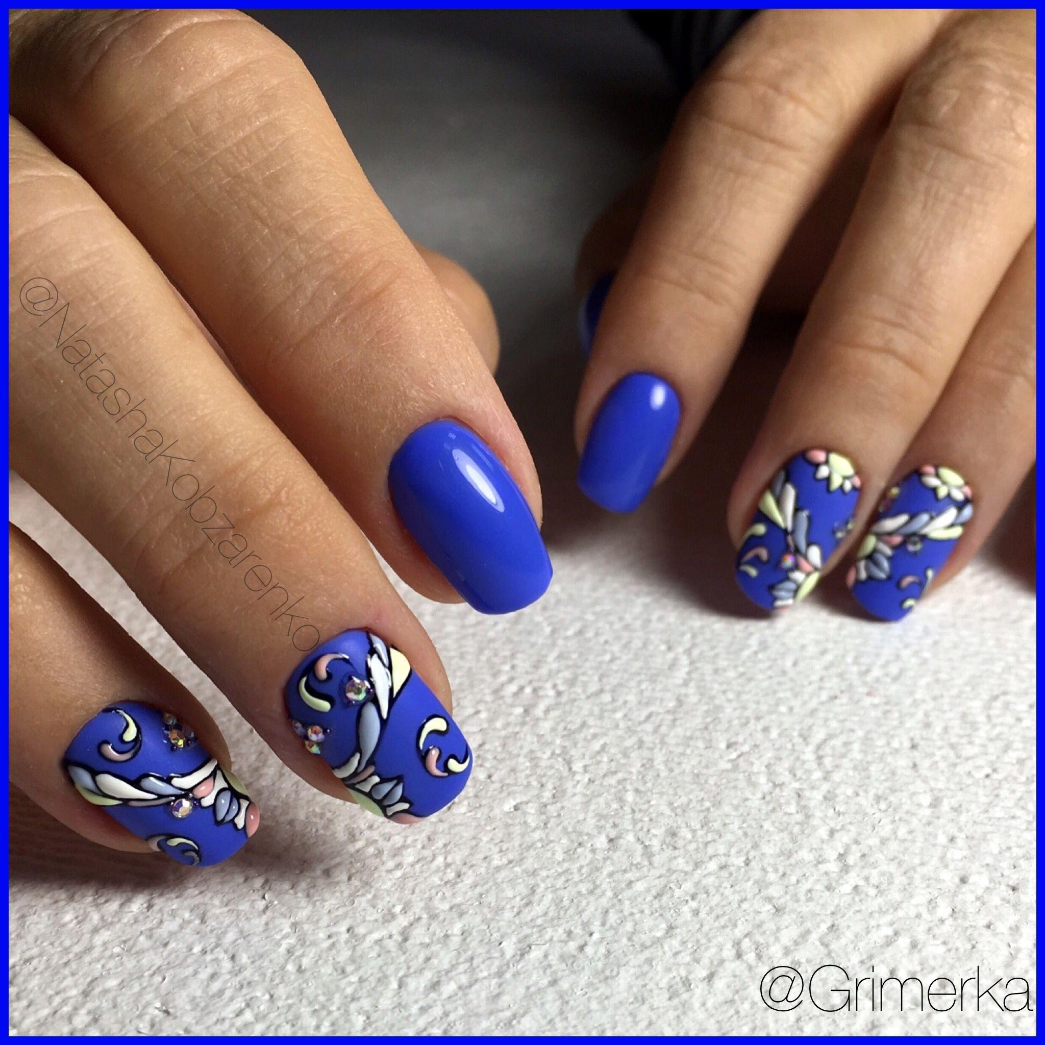 дизайн ногтей с васильками фото самом деле, как