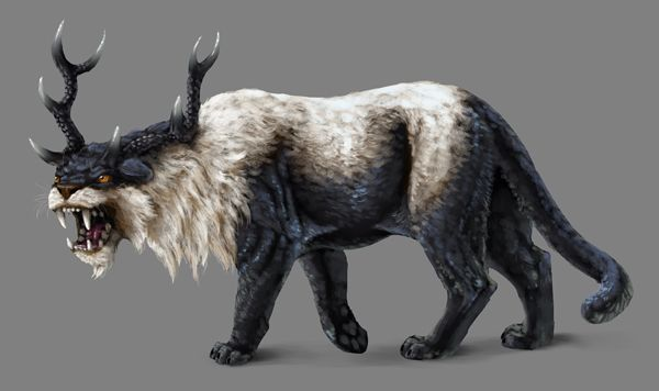 how to paint black white photoshop creature finished -I just like this creature