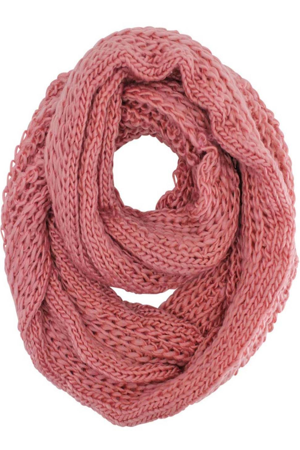 Simple Thick Knit Winter Circle Infinity Scarf | Products ...