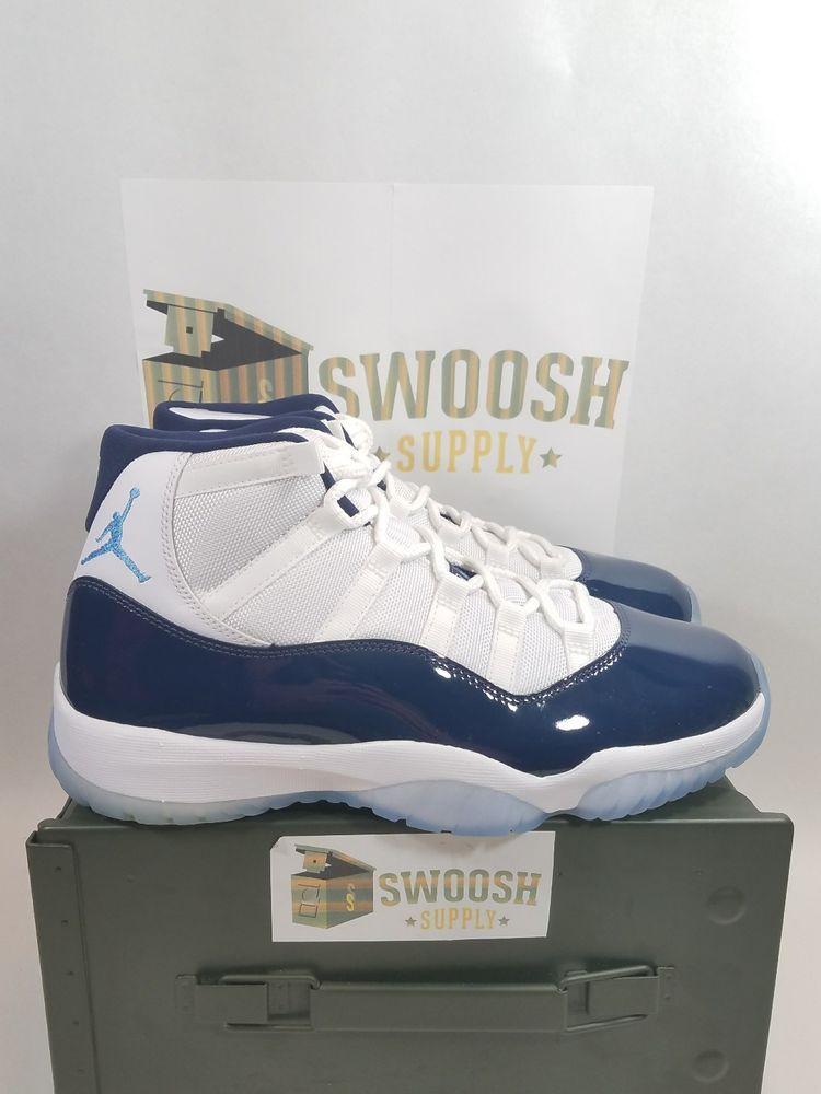 san francisco 23964 2e40f Nike Air Jordan XI Win Like 82 White University Blue 378037 123 SZ 9  Nike   BasketballShoes