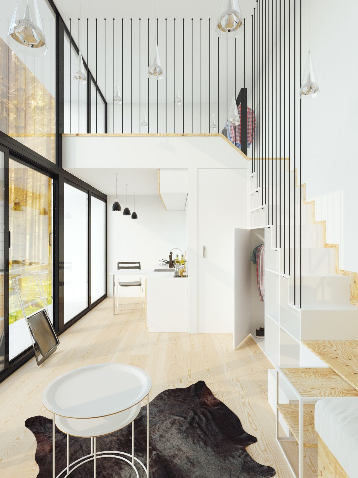 Small Homes That Use Lofts To Gain More Floor Space | Tall ceilings ...