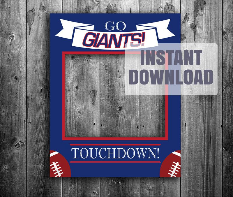 New York Giants frame photo booth prop digital download, nfl ...