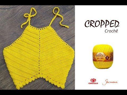 Cropped De Crochê Barroco Maxcolor 4 Professora Simone Eleotério