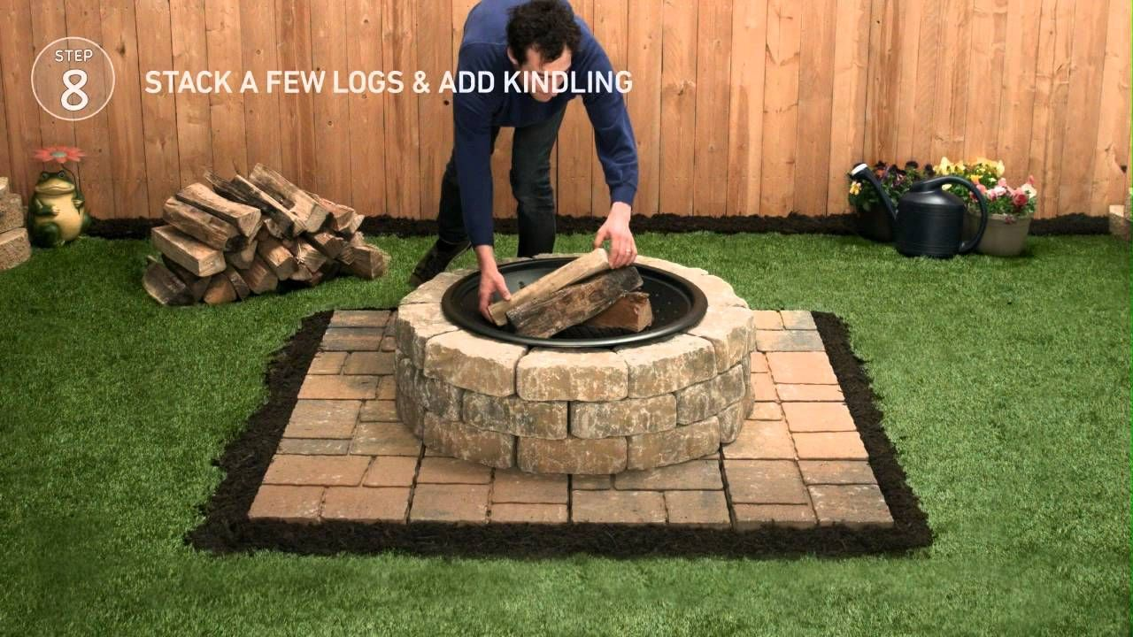 Play Then Pause To Learn How To Build A Fire Pit To Discover