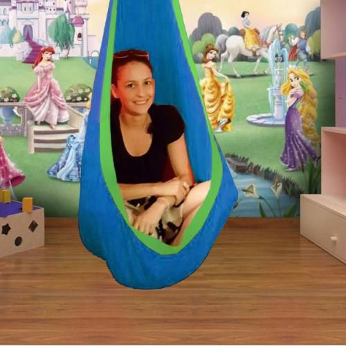 Amazing Blue And Green Waterproof Sensory Swing With C Stand Alphanode Cool Chair Designs And Ideas Alphanodeonline