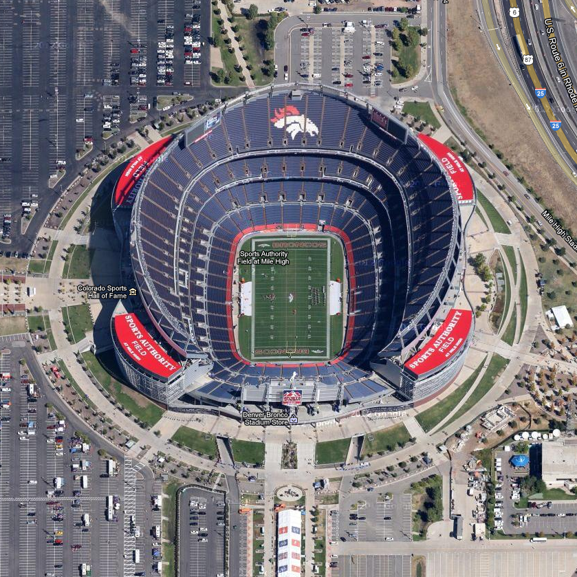 how to get to sports authority field