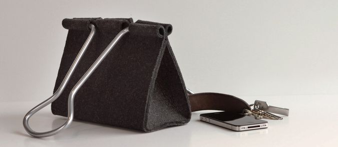 Clip Bag - Peter Bristol Fashion Creation http://coolpile.com/style-magazine/binder-clip-bag-by-peter-bristol/ via CoolPile.com  Aluminum, Bags, Designer Bags, Gifts For Her, Style, Wool