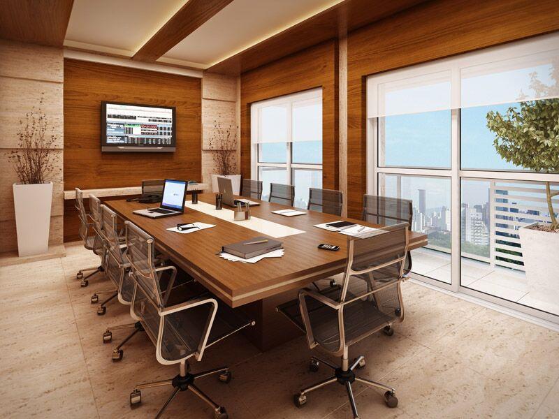Sala de reuni o sala de conferencia espa o corporativo for Sala design moderno