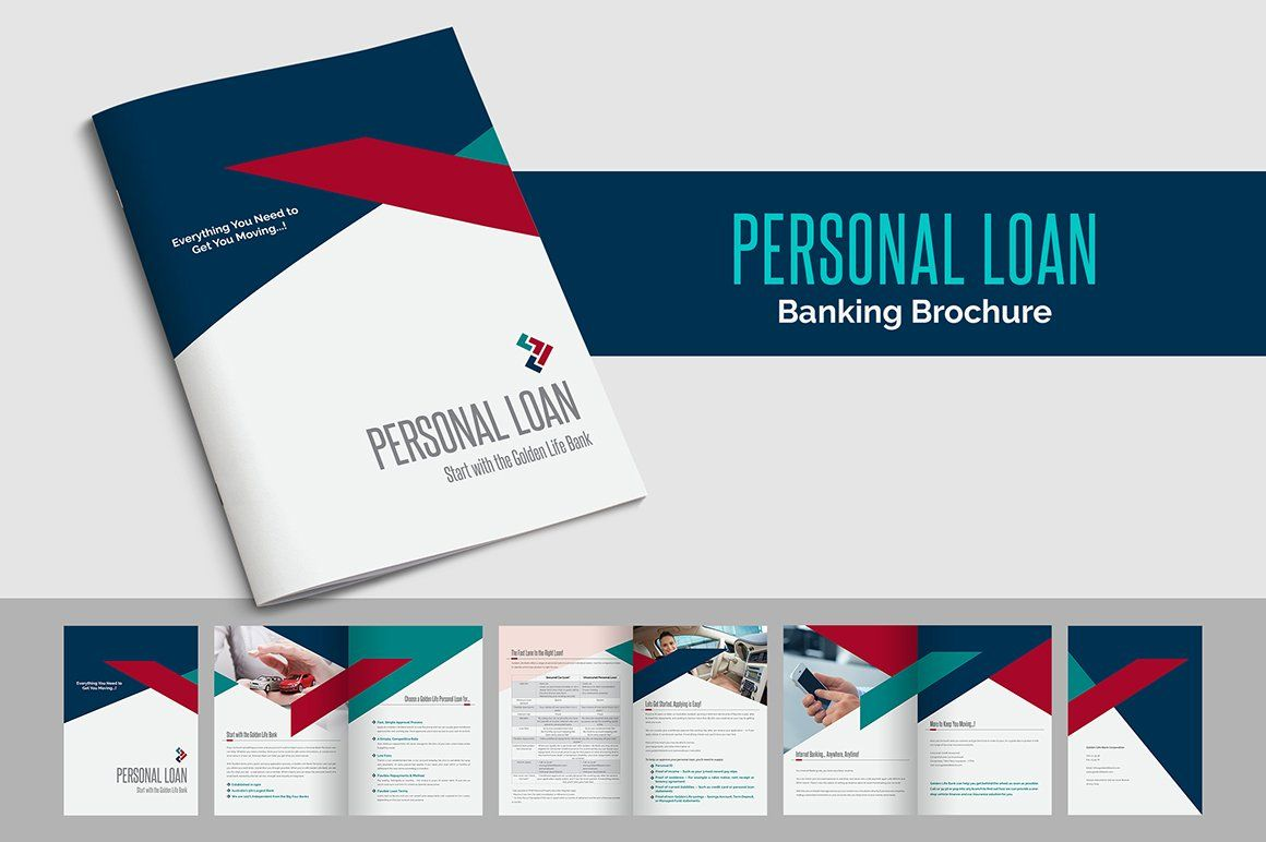 Personal Loan Banking Brochure Indesign Brochure Templates Brochure Template Brochure