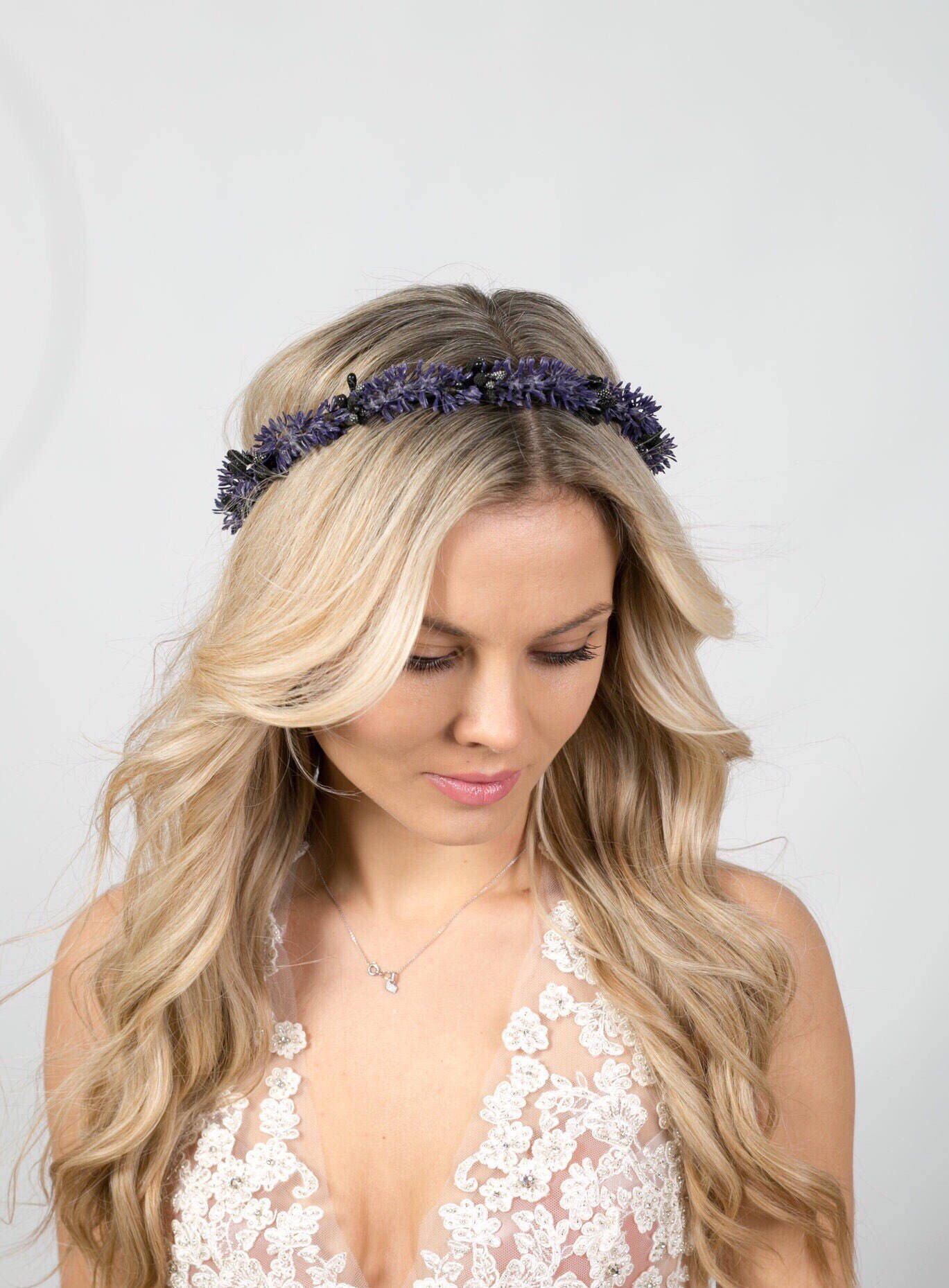 Lavender flower crown flower headband flower crown wedding flower excited to share the latest addition to my etsy shop lavender flower crown flower headband flower crown wedding flower crown bridal flower crown bohemian izmirmasajfo