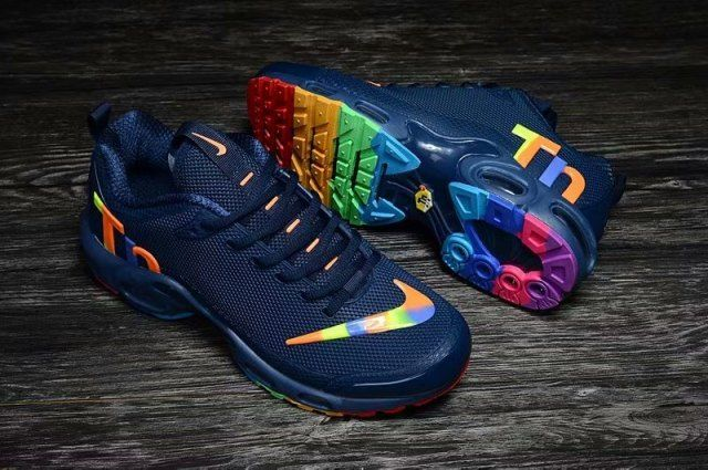 5c0000af5d6 Interesting Nike Mercurial TN KPU Navy Blue Multi-Color Men s Trainers Running  Shoes