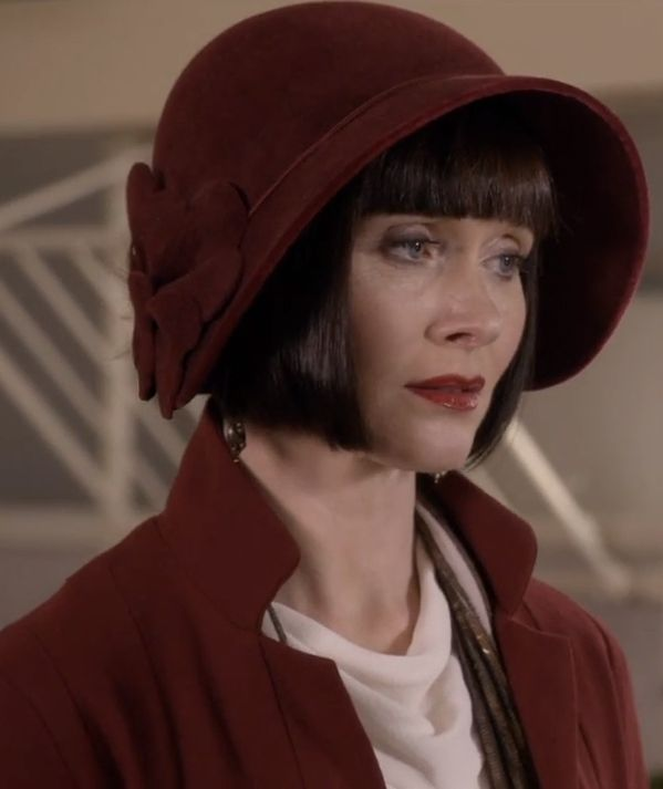 0fd15e57ce79eb Closeup on Phryne's dark red cloche hat in Series 1 Episode 1 - Miss  Fisher's Murder Mysteries - Phryne Fisher - hats - 1920s fashion